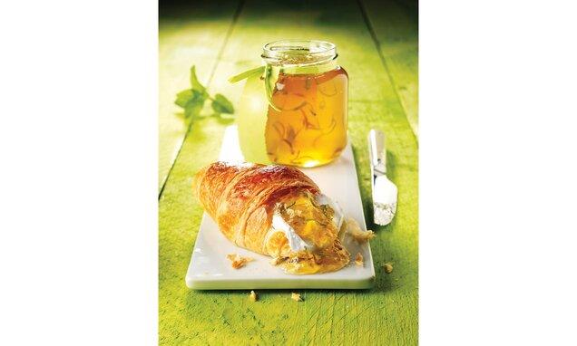 Jablkové želé s limetkou a mätou